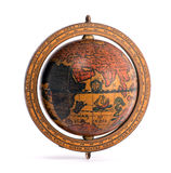 Old vintage wooden world globe Stock Photography