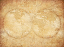 Old vintage world map background Royalty Free Stock Photography