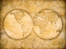 Old vintage world map based on image furnished by NASA Stock Images