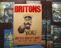 Old vintage WWII poster Stock Photo