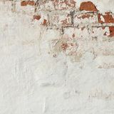 Old Vinyage Red Brick Wall With Sprinkled White Plaster Texture Stock Photos