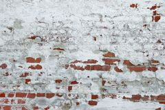 Old Vinyage Red Brick Wall With Sprinkled White Plaster Texture Royalty Free Stock Photos