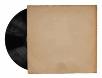 Old vinyl with cover Stock Photography