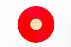 Old vinyl long play record on white background Royalty Free Stock Photo