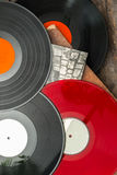 Old vinyl long play records Stock Photo