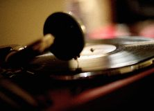 Old vinyl LP playing Stock Photography