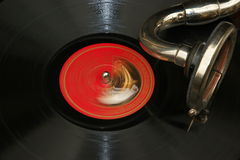 Old vinyl LP (78s) vinil playing Stock Image