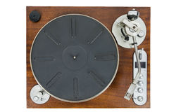 Old vinyl player on white background Royalty Free Stock Image