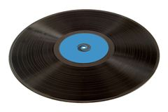Old vinyl record. Closeup isolated royalty free stock photos