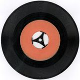 Old vinyl record Stock Photography