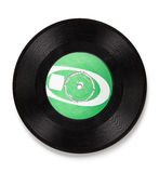 Old vinyl record - clipping path. Old black vinyl record with original label (clipping path for maximum size Stock Photos
