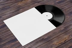Old Vinyl Record Disk in Blank Paper Case with Free Space for Yo Stock Photography