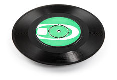 Old vinyl record ellipse - clipping path. Old black vinyl record with original label-ellipse (clipping path for maximum size Stock Images