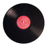 Old vinyl record isolated on white background Royalty Free Stock Images
