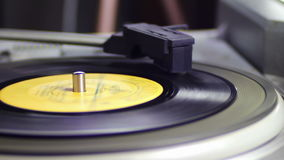 Old Vinyl Record Playing stock video