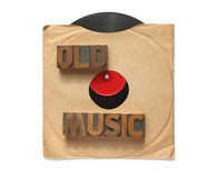 Old vinyl record with words Royalty Free Stock Photography