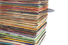 Old vinyl records Stock Photography