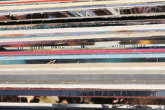 Old vinyl records. For background royalty free stock images