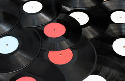 Old vinyl records Royalty Free Stock Photography