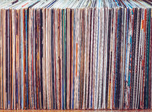 Old vinyl records, collection of albums Royalty Free Stock Images
