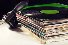 Old vinyls Stock Images
