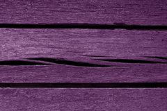 Old violet color weathered wood planks. Abstract background and texture for design Stock Photography