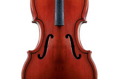 Old violin. Is isolated on a white background Stock Images