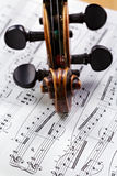 Old violin Stock Photo