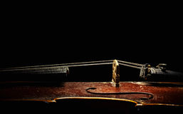 Old Violin From Aside Royalty Free Stock Images