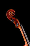 Old Violin  on black background Stock Photography