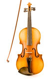 Old Violin with Bow Royalty Free Stock Image
