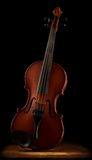 Old violin close up Royalty Free Stock Images