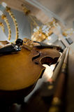 Old violin close-up Royalty Free Stock Photo