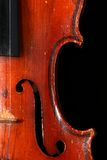 Old violin details Stock Photography