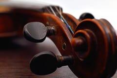 Old violin head Royalty Free Stock Image