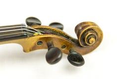 Old violin head Stock Photo