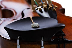 Old Violin with jewel Royalty Free Stock Image