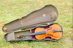 Old violin since 1928 Royalty Free Stock Photos