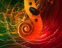 Old violin music concept Stock Photography
