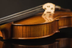 Old violin over black Royalty Free Stock Photography