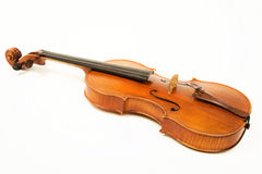 Old Violin Over White Stock Images