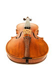 Old violin over white Stock Photos