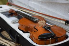 An old violin - a producer of magical sound Royalty Free Stock Photo