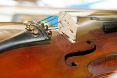 The old  violin with score Stock Image