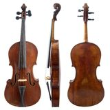 Old violin sides Stock Photo