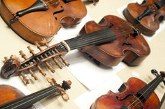 Old violins Royalty Free Stock Photos