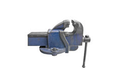 Old vise isolate Royalty Free Stock Photo