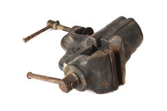 Old vise isolated on white background Stock Images