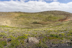 Old volcanic crater in Teguise Royalty Free Stock Photos