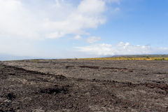 Old volcanic lava field  Stock Photo